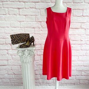 Evan-Picone Coral Sleeveless Dress - 8